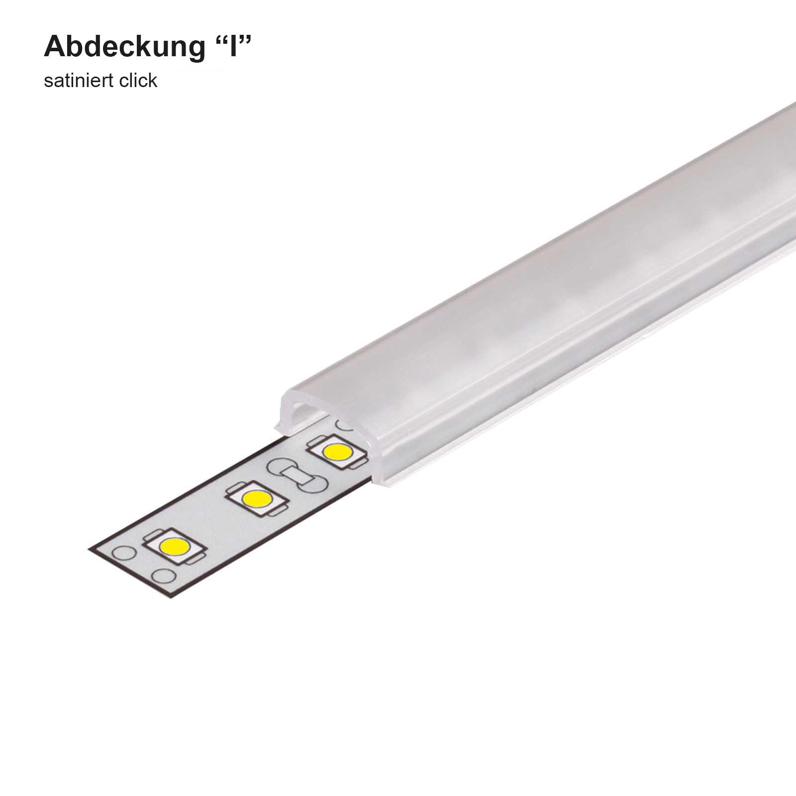 Abdeckung 1-2 Meter LED Sonderprofil PEN (PE)